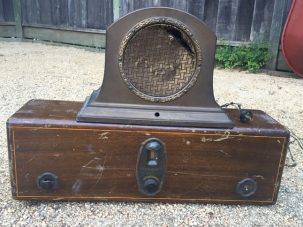1920s radio. Weighs a ton.